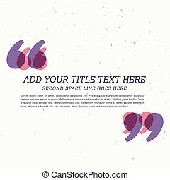 testimonial textbox with space for your text