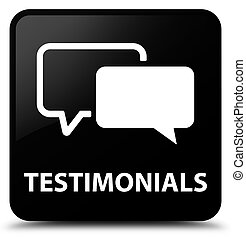 Testimonials black square button