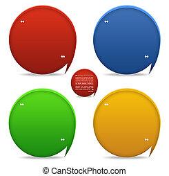 Testimonials blocks for web template design - Set of 4 ...