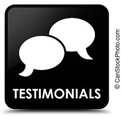 Testimonials (chat icon) black square button