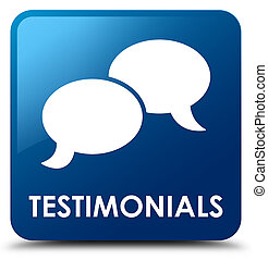 Testimonials (chat icon) blue square button