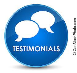 Testimonials (chat icon) elegant blue round button