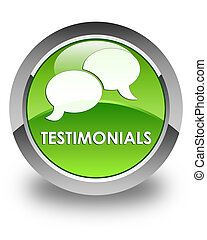 Testimonials (chat icon) glossy green round button