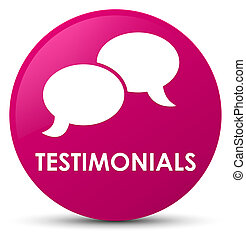 Testimonials (chat icon) pink round button