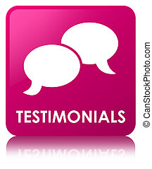 Testimonials (chat icon) pink square button