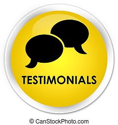 Testimonials (chat icon) premium yellow round button