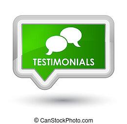Testimonials (chat icon) prime green banner button
