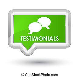 Testimonials (chat icon) prime soft green banner button