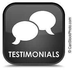 Testimonials (chat icon) special black square button
