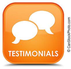 Testimonials (chat icon) special orange square button