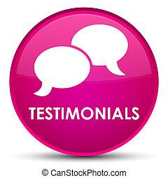 Testimonials (chat icon) special pink round button