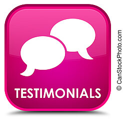 Testimonials (chat icon) special pink square button