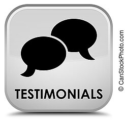 Testimonials (chat icon) special white square button