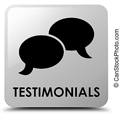 Testimonials (chat icon) white square button