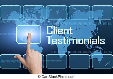 testimonials, client