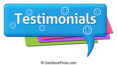Testimonials Colorful Comment - Testimonials text with stars...