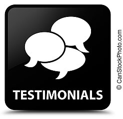 Testimonials (comments icon) black square button