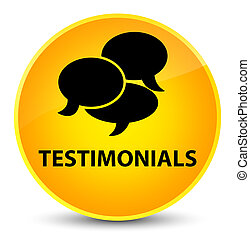 Testimonials (comments icon) elegant yellow round button