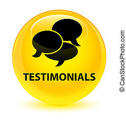 Testimonials (comments icon) glassy yellow round button