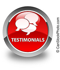 Testimonials (comments icon) glossy red round button
