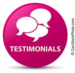 Testimonials (comments icon) pink round button