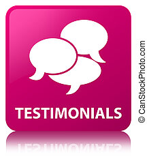 Testimonials (comments icon) pink square button