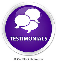 Testimonials (comments icon) premium purple round button