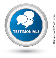 Testimonials (comments icon) prime blue round button