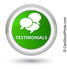 Testimonials (comments icon) prime green round button