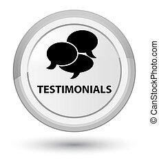 Testimonials (comments icon) prime white round button