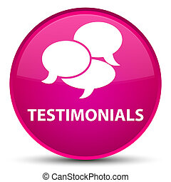 Testimonials (comments icon) special pink round button