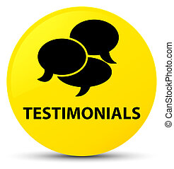 Testimonials (comments icon) yellow round button