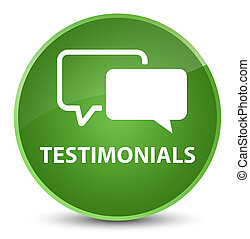 Testimonials elegant soft green round button