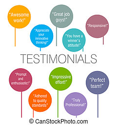 Testimonials - Generic testimonials from various clients...