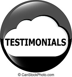 Testimonials glossy black button