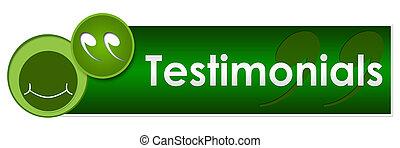 Testimonials Green Circles - Testimonials concept image with...