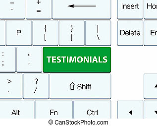 Testimonials green keyboard button