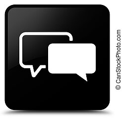 Testimonials icon black square button