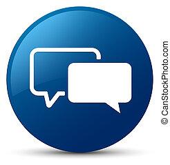 Testimonials icon blue round button