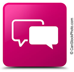 Testimonials icon pink square button