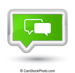 Testimonials icon prime soft green banner button
