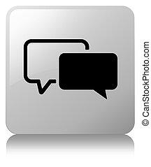 Testimonials icon white square button