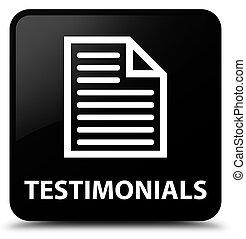Testimonials (page icon) black square button