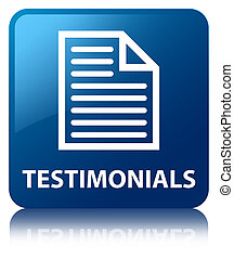 Testimonials (page icon) blue square button