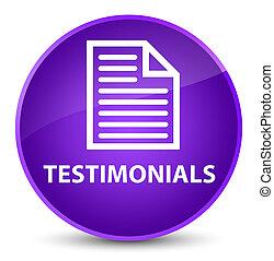 Testimonials (page icon) elegant purple round button