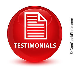 Testimonials (page icon) glassy red round button
