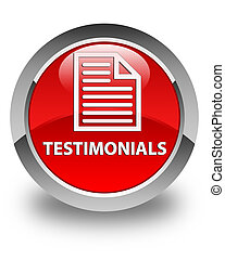 Testimonials (page icon) glossy red round button
