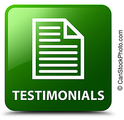Testimonials (page icon) green square button