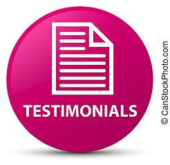 Testimonials (page icon) pink round button