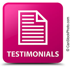 Testimonials (page icon) pink square button